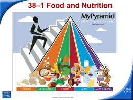 38–1 Food and Nutrition
