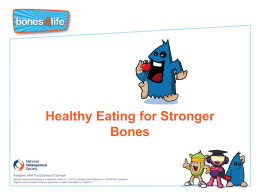 Healthy eating for strong bones