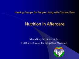 A Lifestyle for Wellness - Full Circle Center for Integrative Medicine