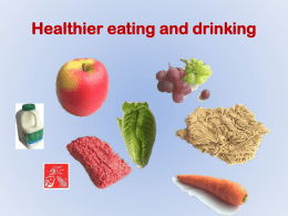 healthy eating and drinking