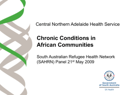 Chronic Conditions in African Communities