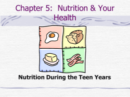 Chapter 5: Nutrition & Your Health
