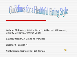 USDA & HHS: Nutrition & Your Health: Dietary Guidelines for