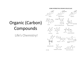 Organic (Carbon) Compounds