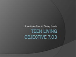 Teen Living Objective 7.03