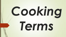 Cooking Terms - Heather Damato