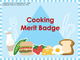 The Cooking Merit Badge - Coast Christian Fellowship