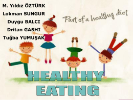 4. What are the strategies for a healthy eating? - Docente
