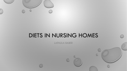 Diets in nursing homes