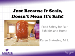 Just Because It Seals, Doesn*t Mean It*s Safe! - Kansas 4