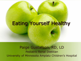 Eating Yourself Healthy - Alport Syndrome Foundation