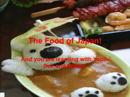 Japanese Food File - Burnside High School
