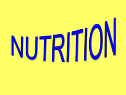 PowerPoint - General Nutrition