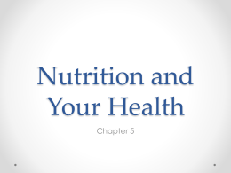Nutrition and Your Health - nvhshealth-pe