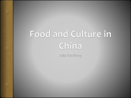 Food and Culture in China