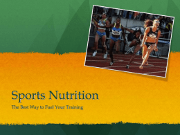Sports Nutrition - High Peaks Elite Distance Camp