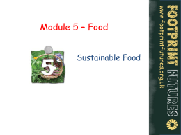 Sustainable Food - Footprint Futures!