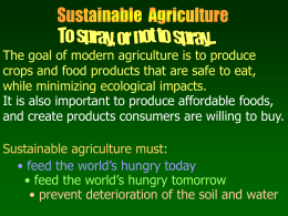 Sustainable Agriculture Notes File