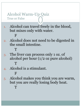 The Problems of Alcohol
