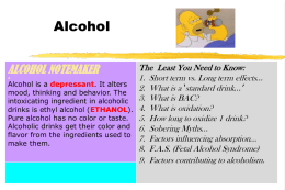 Dangers of Alcohol PPT