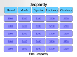 Jeopardy - Cobb Learning