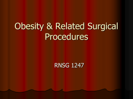Obesity & Related Surgical Procedures