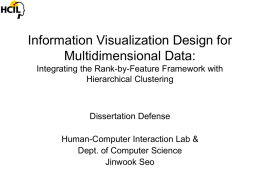 Information Visualization Designs for Understanding