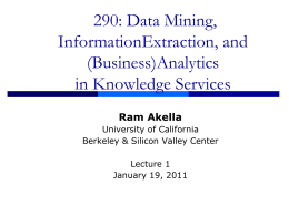 Lecture 1a - Courses - University of California, Berkeley