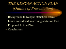 The Kenyan Action Plan