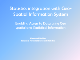 Statistics integration with Geo Information System