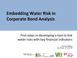 Embedding Water Risk in Corporate Bond Analysis