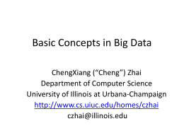 intro-bigdata - University of Illinois at Urbana