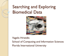 Searching and Exploring Biomedical Data