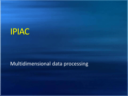Multidimensional data processing