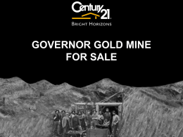 Governor Gold Mine Powerpoint Presentation