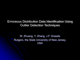 Erroneous Distribution Data Identification Using Outlier Detection