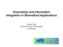 Uncertainty and Information Integration in Biomedical Applications