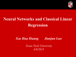 Neural network or classical linear regression?