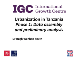 Hugh Wenban-Smith - International Growth Centre