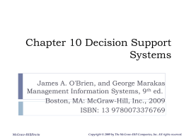 Management Information Systems Decision Support