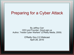 Preparing for a Cyber Attack