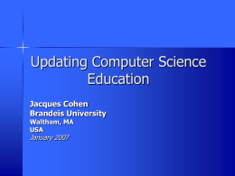 Updating Computer Science Education