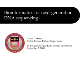 Next generation sequencing -- Tutorial