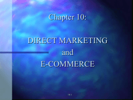 DIRECT MARKETING and e