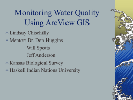 Monitoring water quality using GIS