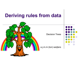Deriving rules from data