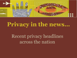 Privacy in the news…