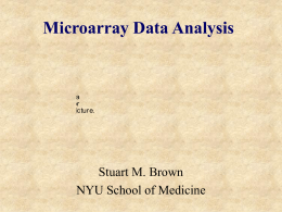 Microarray Data Analysis - National Sun Yat