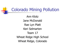 Colorado Mining Pollution