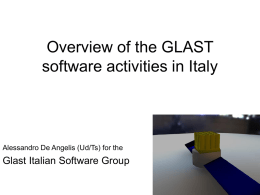 Italian Activities on software